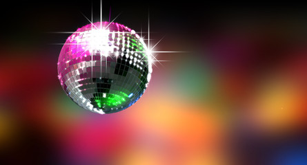 Fototapeta Colorful Glinting Disco Ball