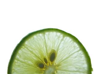 lime slice on white background