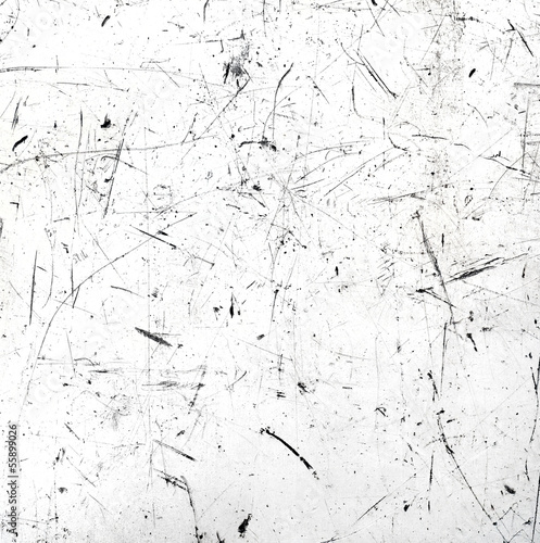 Fotografie, Tablou  White scratched texture