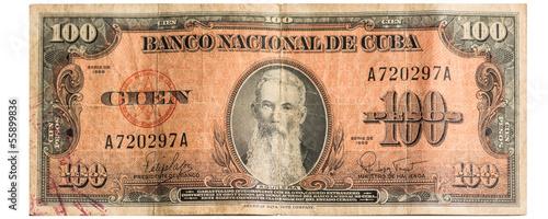Cuban Hundred Bill dating from 1959 Wallpaper Mural