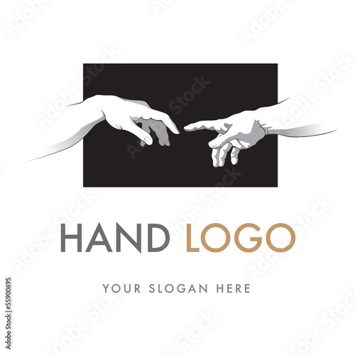 Canvas Print Hand Logo, Creation of Adam, Sistine Chapel