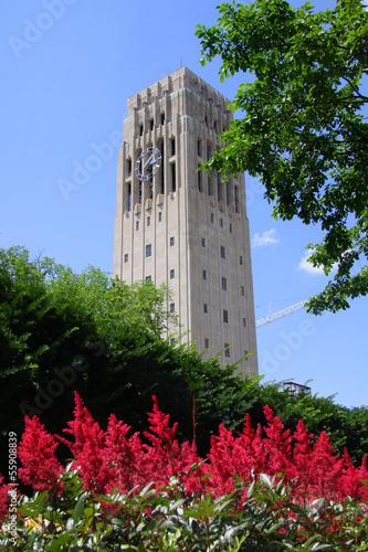 Clock tower in University of Michigan Canvas Print
