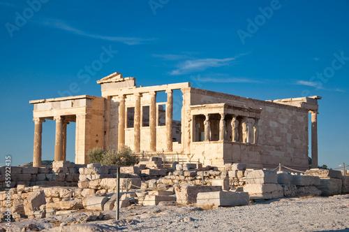 Staande foto Athene The Erechtheion on Acropolis of Athens. Greece.