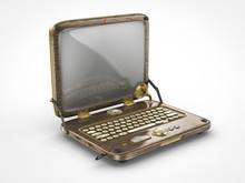 Old Vintage Steam Punk Laptop Computer