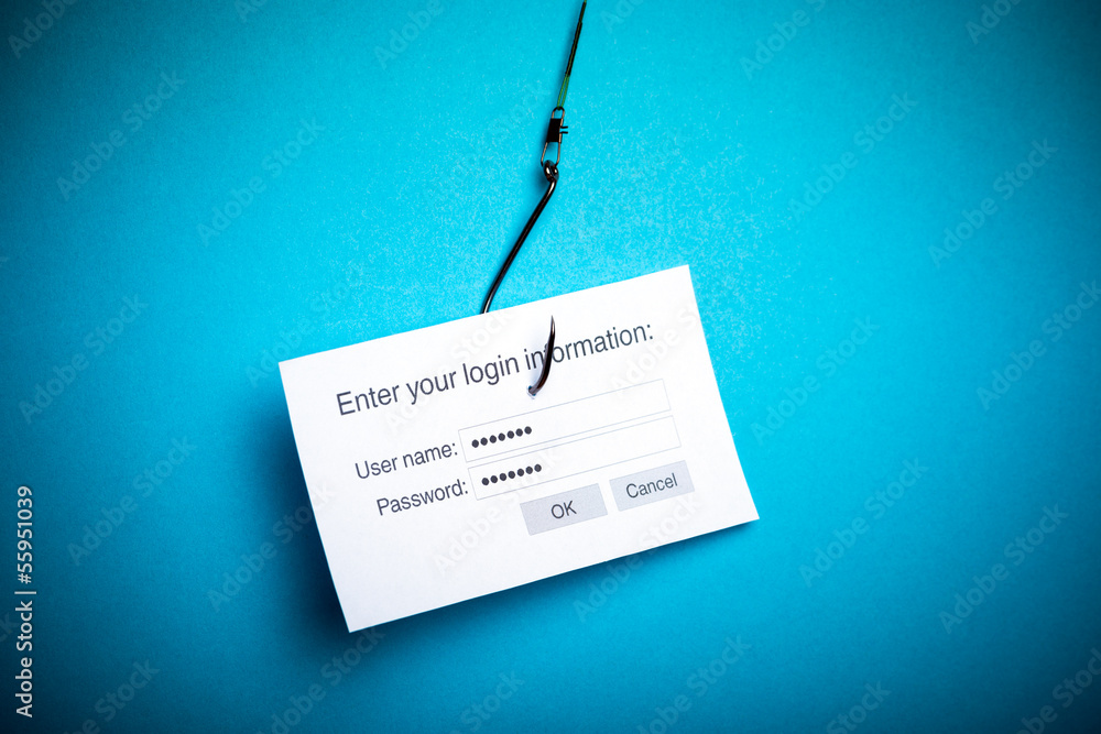 Fototapeta Malware phishing data concept