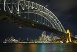sydney harbour bridge in australia at night