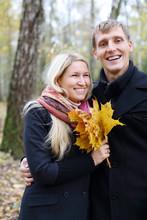 Happy Husband And Wife With Ye...