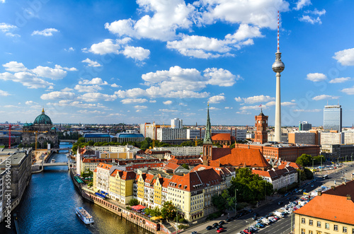 Berlin Skyline Panorama Poster