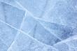 Leinwanddruck Bild - Baikal ice texture