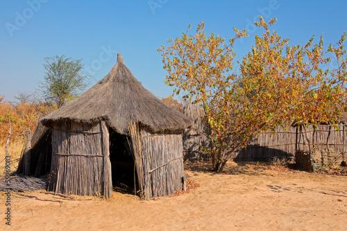 Fotografie, Obraz  Rural African hut, Caprivi region