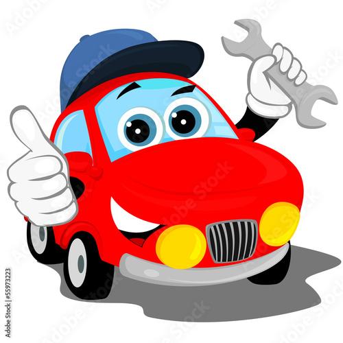 Staande foto Cartoon cars auto repair