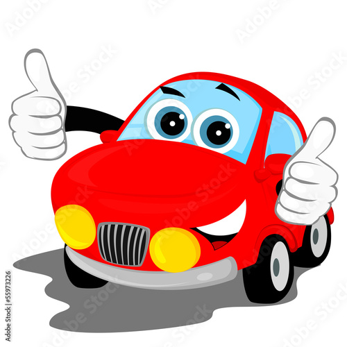 Staande foto Cartoon cars lucky car