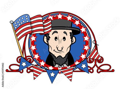 Abraham Lincoln Cartoon Vector Illustration Buy This Stock