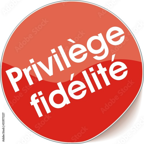 étiquette privilège fidélité Canvas Print