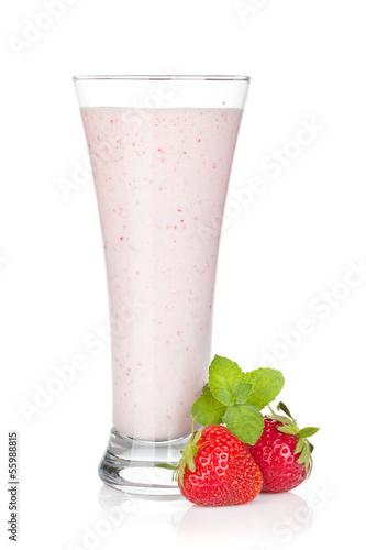 Foto op Aluminium Milkshake Strawberry milk smoothie cocktail