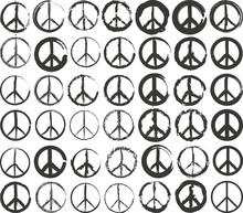 Set Of Isolated Stylized Peace Symbol