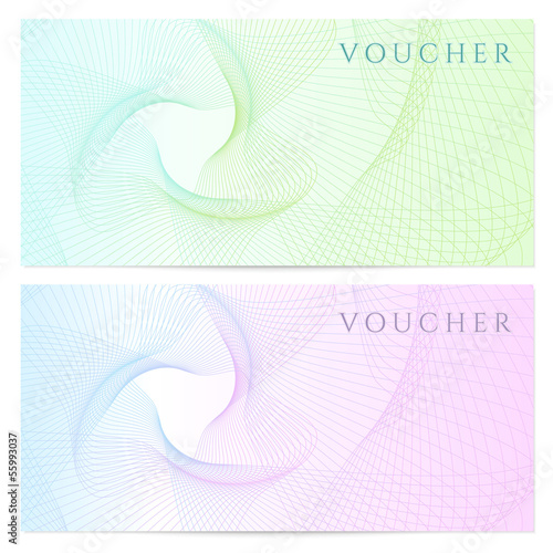 Gift certificate / Voucher / Coupon template. Colorful pattern Canvas-taulu