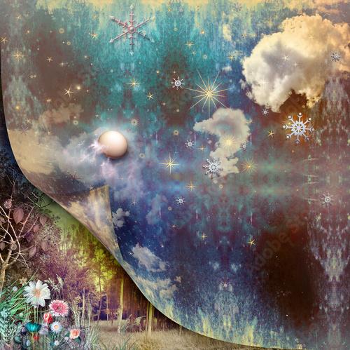 Tableau sur Toile Blue vintage sky