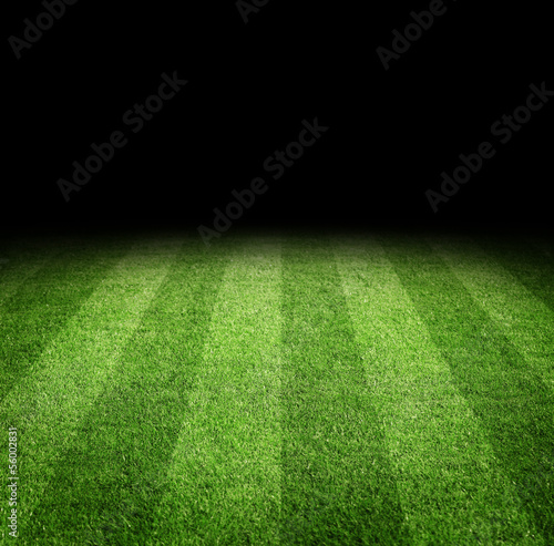Photo  Close up of soccer or football field at night with copy space