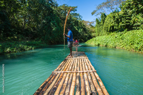 Photographie Bamboo River Tourism in Jamaica