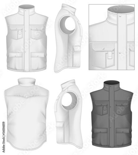Fotografía  Men's bodywarmer design templates