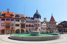 Europe Square In Komarno . Slo...