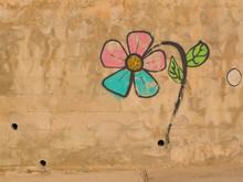 Graffiti Wall Flower