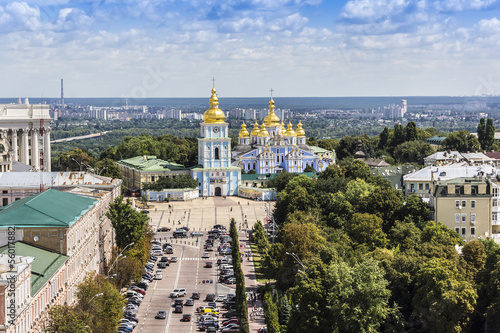 Kiev panorama from Bell tower of Sophia Cathedral. Kiev, Ukraine