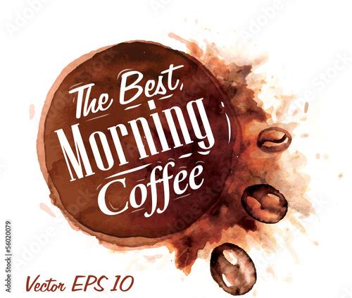 Zestaw kawy akwarelowej najlepiej porannej kawy Collecti odznaki
