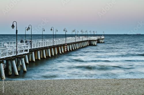 zachód słońca nad morzem. Gdynia Orłowo