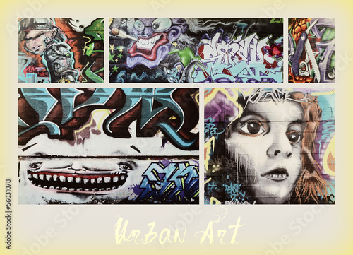 Photo sur Toile Graffiti collage collage ...graffiti