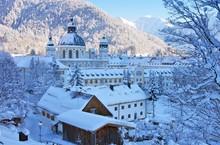 Ettal Kloster Winter - Ettal A...