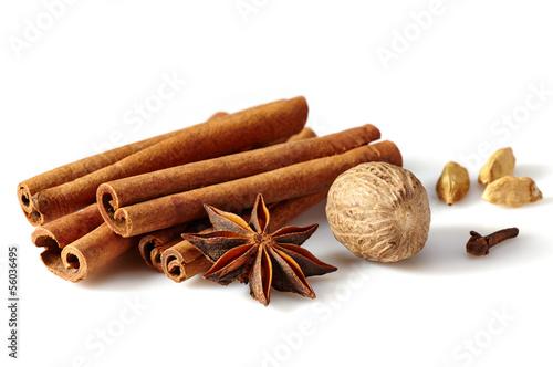 Fotografie, Obraz  Cinnamon sticks and spices