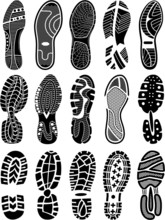 Shoe Soles Vector Silhouettes ...