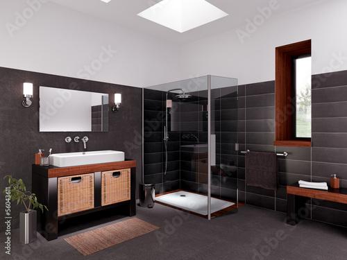 Valokuvatapetti Salle de bain avec douche