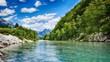 Leinwandbild Motiv HDR Soca river