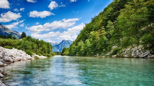 Cadres-photo bureau Rivière de la forêt HDR Soca river