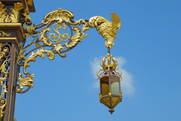 Fototapeta na wymiar Lantern from place Stanislas in Nancy, France