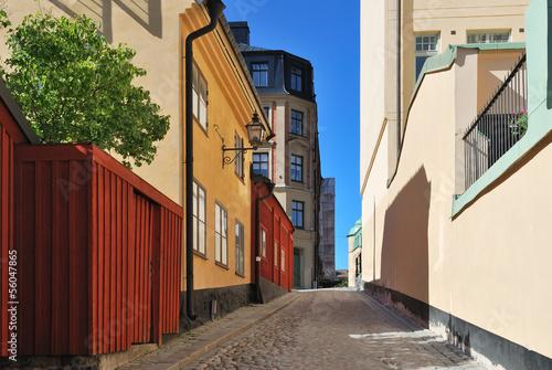 Photo  Stockholm. Narrow street at Sodermalm