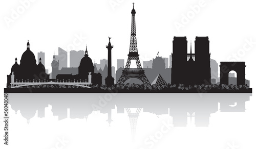 Paris France city skyline silhouette - 56048048