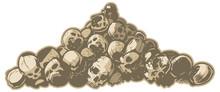 Pile Of Skulls Vector Illustra...