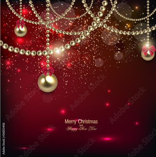 Elegant Christmas Background Hd.Elegant Christmas Background With Golden Baubles Vector