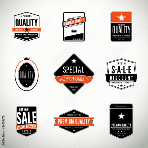 Fotografía  Vector set with labels and badges