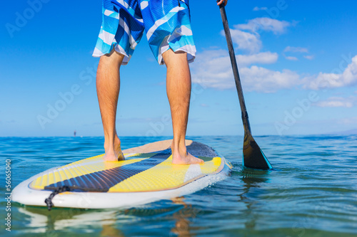 Fotografie, Obraz  Man on Stand Up Paddle Board