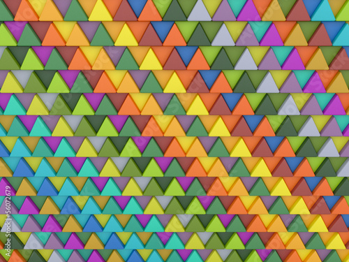 Deurstickers ZigZag Background of colored triangles