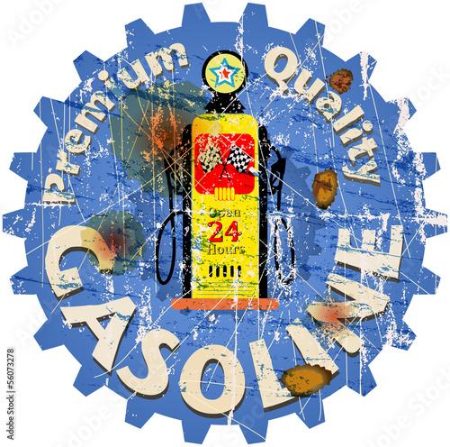 vintage gas sign,vector illustration