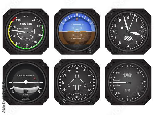 Aircraft Instruments Canvas Print