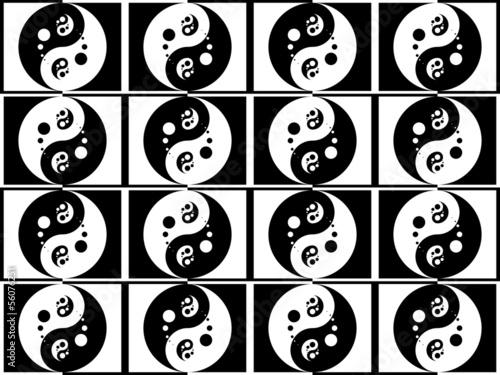 Fotografie, Obraz  Jing jang pattern