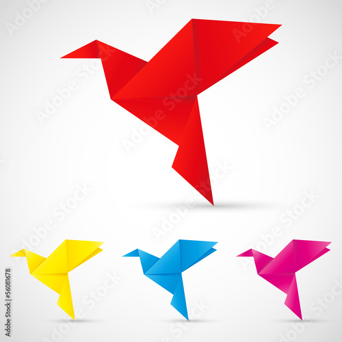 Canvas Prints Geometric animals Origami Vögel