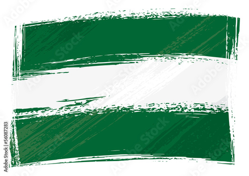 Grunge Andalusia flag